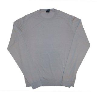giza cotton crew neck knit GRAY