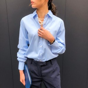 BAGUTTA per Rita regular color shirt saxblue