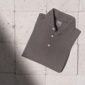 cotton polo shirt BROWN
