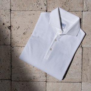 cotton polo shirt WHITE