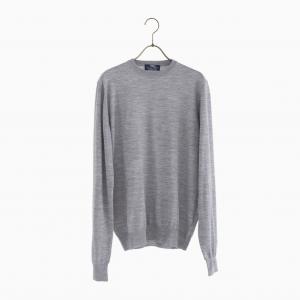 lana140 wool crew neck knit GREY
