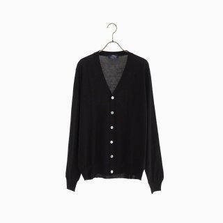 lana140 wool cardigan BLACK