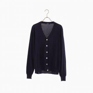 lana140 wool cardigan NAVY