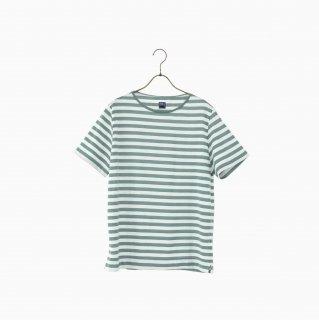 cotton border t-shirt GREEN