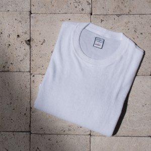 cotton pile t-shirt WHITE