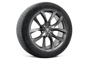 Tesla Model X 20 TSS Flow Forged Tesla Wheel and Tire Package (Set of 4)