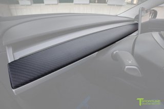Tesla Model 3 Carbon Fiber Dash Panel