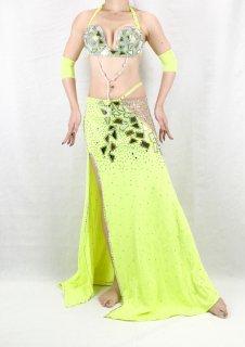 【ベリーダンス衣装】オリエンタル衣装 エジプト製【イエロー】