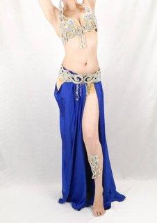 【ベリーダンス衣装】オリエンタル衣装 Sagaat(サガート)【ブルー】