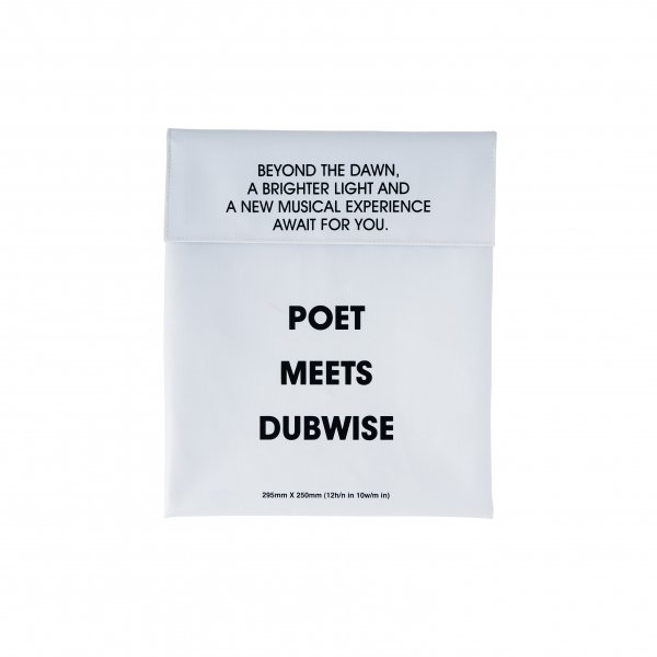 POET MEETS DUBWISE LOGO 11INC BAG
