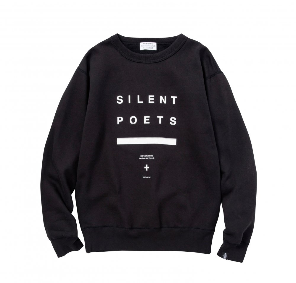 SILENT POETS CREWNECK SWEAT<img class='new_mark_img2' src='//img.shop-pro.jp/img/new/icons8.gif' style='border:none;display:inline;margin:0px;padding:0px;width:auto;' />
