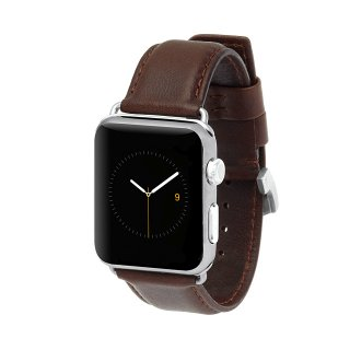 【上質な本革を使用した交換用バンド】Case-mate 42mm / 44mm Apple Watchband - Signature Leather - Tobacco
