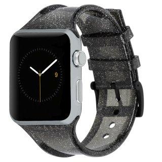 【キラキラのラメを封入した鮮やかなデザイン】Case-mate 38mm / 40mm Apple Watchband - Sheer Glam - Noir