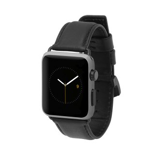 【上質な本革を使用した交換用バンド】Case-mate 42mm / 44mm Apple Watchband - Signature Leather - Black