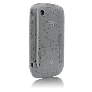 【シンプルなソフトケース】 BlackBerry Curve 9300 Gelli Case Checkmate Gray