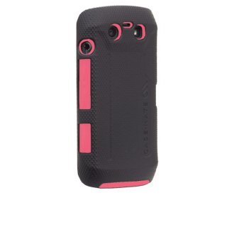 【衝撃に強いケース】 BlackBerry Torch 9850/9860 Hybrid Tough Case Black/Pink