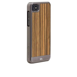 【天然木材を使ったケース】 BlackBerry Z10 Artistry Woods Case Zebrawood