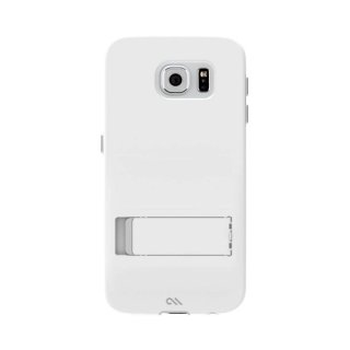 【落下等の衝撃に強いスタンド付きケース】 GALAXY S6 SC-05G Hybrid Tough Stand Case White/Titanium