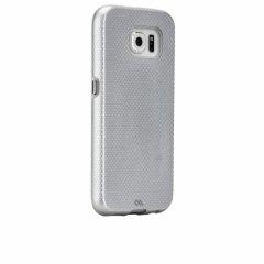 【2層構造でしっかりと保護するケース】 GALAXY S6 SC-05G Hybrid Tough Case Silver / Clear ハイブリッド タフ ケース