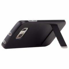 【落下等の衝撃に強いスタンド付きケース】 GALAXY S6 edge SC-04G/SCV31 Hybrid Tough Stand Case Black/Titanium