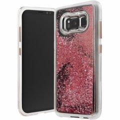 【Galaxy S8 滝をイメージしたきらびやかなケース】Galaxy S8  SC-02J/SCV36 Waterfall Rose Gold