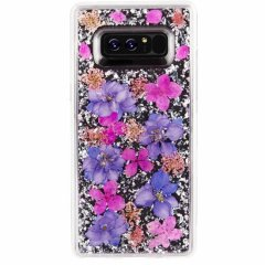 【ドライフラワーを使用! Galaxy Note 8用】Galaxy Note 8 Karat - Petals  Purple