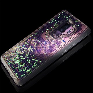 【Galaxy S9専用 暗闇で光を放つ幻想的なケース】Galaxy S9 SC-02K/SCV38 Waterfall - Glow - Purple