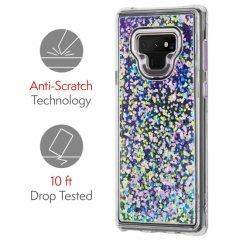 【暗闇で光を放つ幻想的なケース】Galaxy Note9 Waterfall Glow-Purple