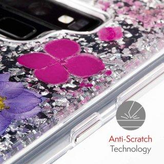 【ドライフラワーを使用!ハッピーでかわいいケース】Galaxy Note9 Karat Petals-Purple