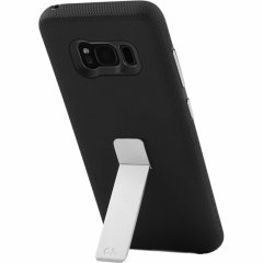 【Galaxy S8 スタンド付き耐衝撃タイプ】 Galaxy S8 SC-02J/SCV36 Hybrid Tough Stand Case  Black/Silver