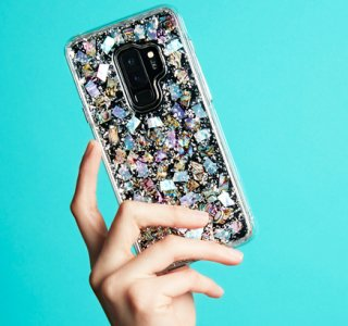 【Galaxy S9+専用 本物の真珠貝をケースに封入☆】Galaxy S9+ SC-03K/SCV39 Karat - Morther of Pearl