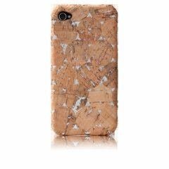 【コルク調のハードケース】 iPhone 4S/4 Lisboa Case with Screen Protector Cork/Silver