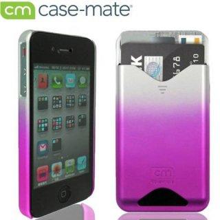 【ICカードが収納可能なハードケース】 iPhone 4S/4 ID Case Matte Royal Pink