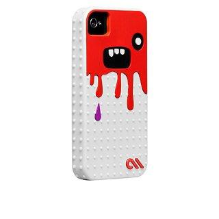 【キモかわいいモンスターのケース】 iPhone 4S/4 Creatures: Monsta Case White/Red