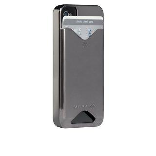 【ICカードが収納可能なハードケース】 iPhone 4S/4 ID Case Gloss Metallic Silver