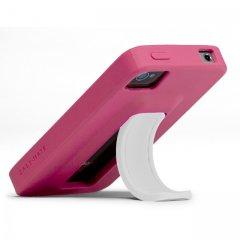 【スタンドが収納可能なケース】 iPhone 4S/4 Snap Case Lipstick Pink/White