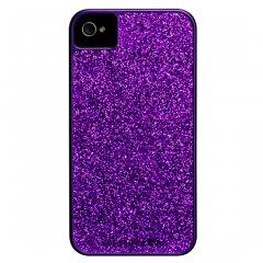 【キラキラ輝くハードケース】 iPhone 4S/4 Barely There Glam Case Purple