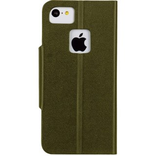 【iPhone5c ケース スタンド機能付きスリムな手帳スタイル】 iPhone 5c Slim Folio Case Olive