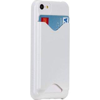 【ICカードが収納可能なケース】 iPhone 5c BT ID Case Glossy White 【エラー防止シート付属】