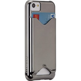 【ICカードが収納可能なケース】 iPhone 5c BT ID Case Chrome 【エラー防止シート付属】