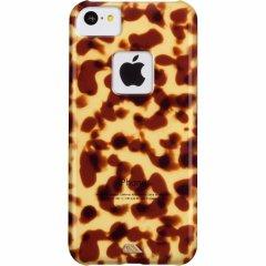 【べっ甲調のハードケース】 iPhone 5c Tortoise Shell Case Brown
