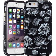 【iPhone6s/6 ケース レベッカ・ミンコフ】 iPhone6s/6 Hybrid Tough Print REBECCA MINKOFF B&W Striped Floral