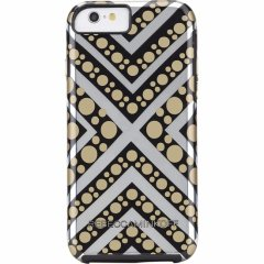 【iPhone6s/6 ケース レベッカ・ミンコフ】 iPhone6s/6 Hybrid Tough Metallic Prints REBECCA MINKOFF Chevron Dot