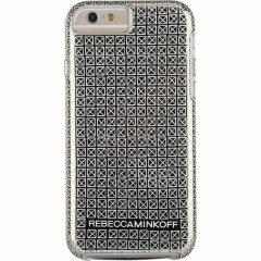 【iPhone6s/6 ケース レベッカ・ミンコフ】 iPhone6s/6 Hybrid Tough Metallic Prints REBECCA MINKOFF Gold Stud