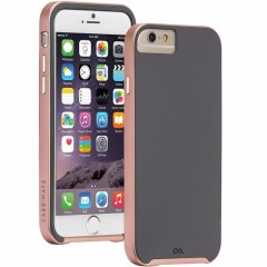 【iPhone6s/6 ケース デュアルレイヤーでスリム】 iPhone6s/6 Slim Tough Case Dark Gray/Rose Gold