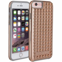 【iPhone6s/6 ケース レベッカ・ミンコフ】 iPhone6s/6 REBECCA MINKOFF Studded Tough Case Rose Gold/Titanium