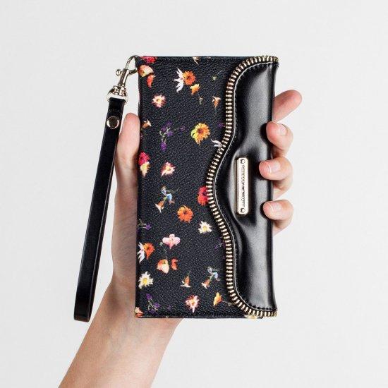 Galaxy S6 Phone Wristlet Black Botanical Floral FolioWristlet-GalaxyS6 Rebecca Minkoff Botanical Floral Folio