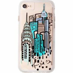 【iPhone8 ケース デザイン・プリント】 iPhone8/7/6s/6  Hybrid Naked Tough City Print NY City View