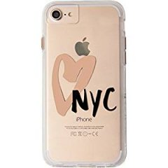 【iPhone8 ケース デザイン・プリント】 iPhone8/7/6s/6  Hybrid Naked Tough City Print NY I HEART NYC