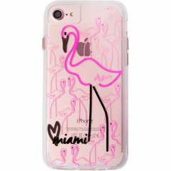 【iPhone8 ケース デザイン・プリント】 iPhone8/7/6s/6  Hybrid Naked Tough City Print Miami Flamingo